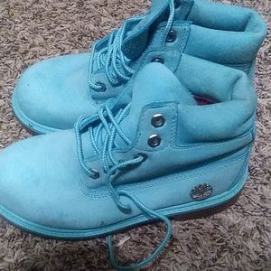 Teal Timberland boots